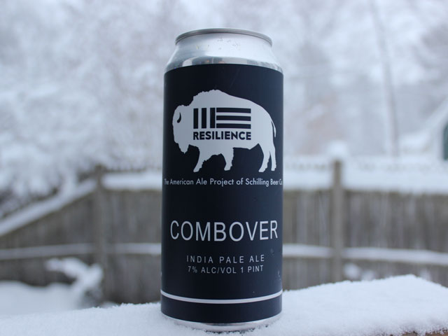 Combover, a IPA brewed by Schilling Beer Company