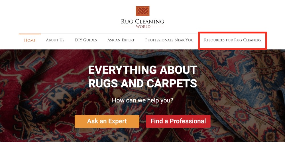 Rug Cleaning World resources for Rug cleaners