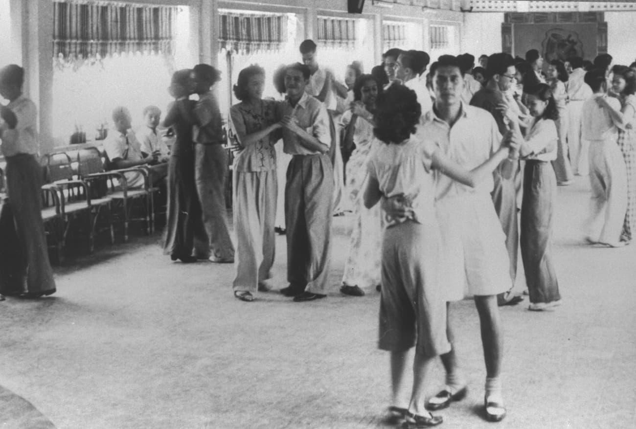 Raffles College students dancing, 1948