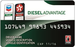 Chevron texaco diesel advantage card