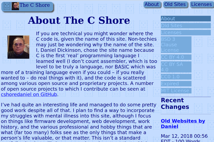 The C Shore: Daniel Dickinson's Website