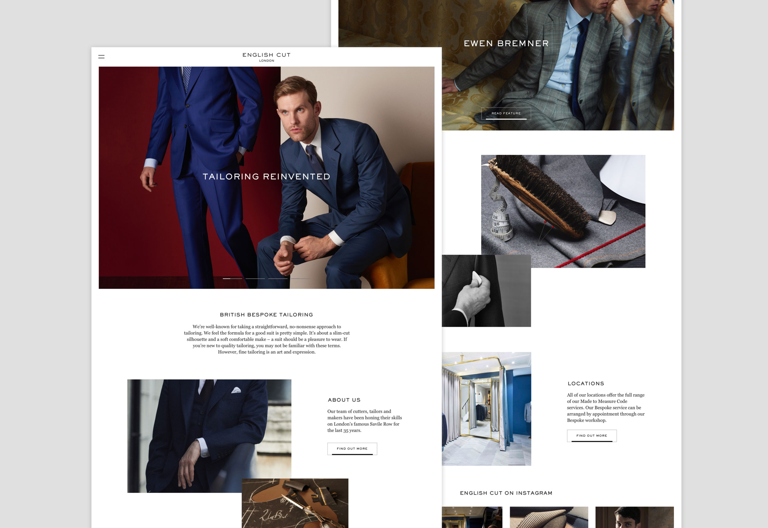 English Cut website designed by She Was Only