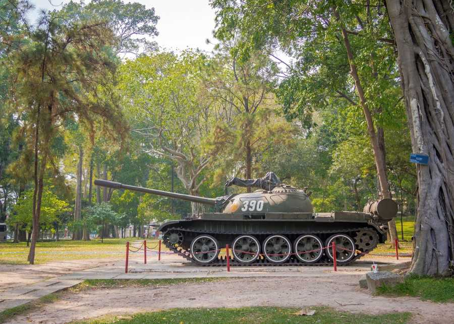 It is not uncommon to see leftover tanks throughout the country.