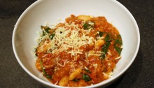 tomato, white bean and spinach panade