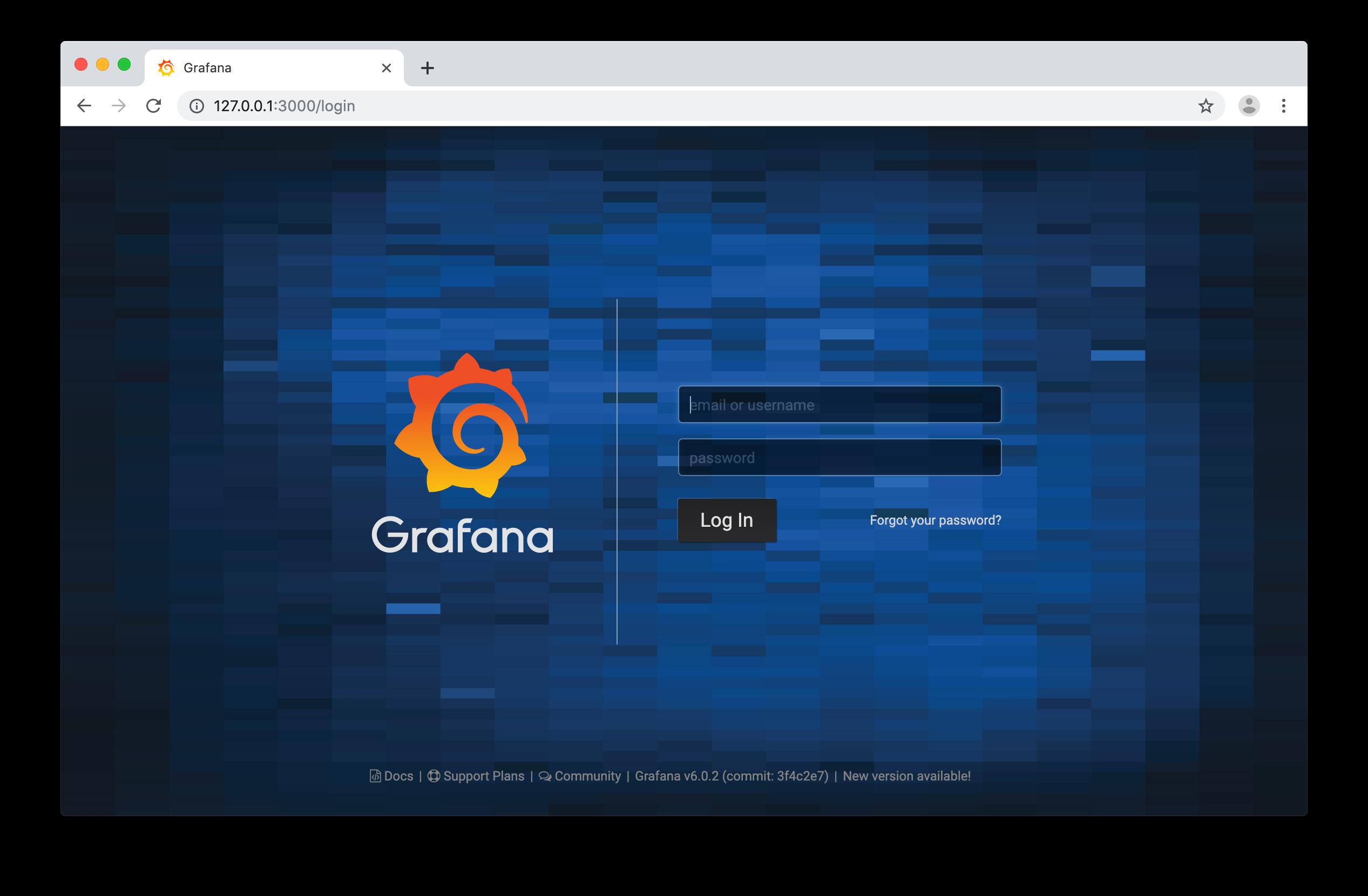 Grafana - Login Screen