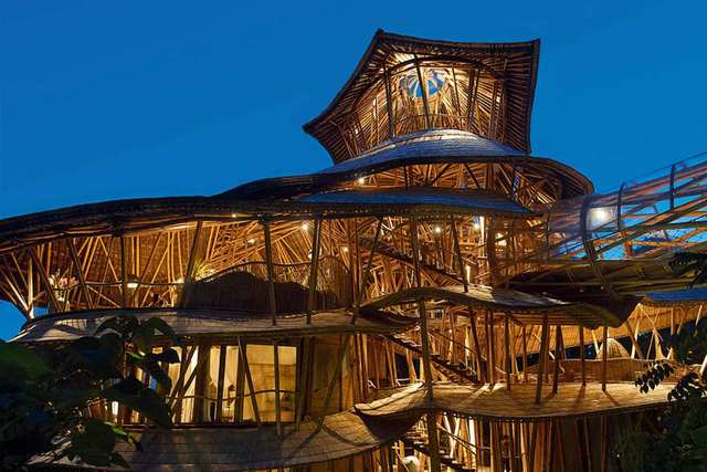 Bamboo Buildings In Bali - Bamboo is booming here, showing excellent examples of a sustainable way to build.