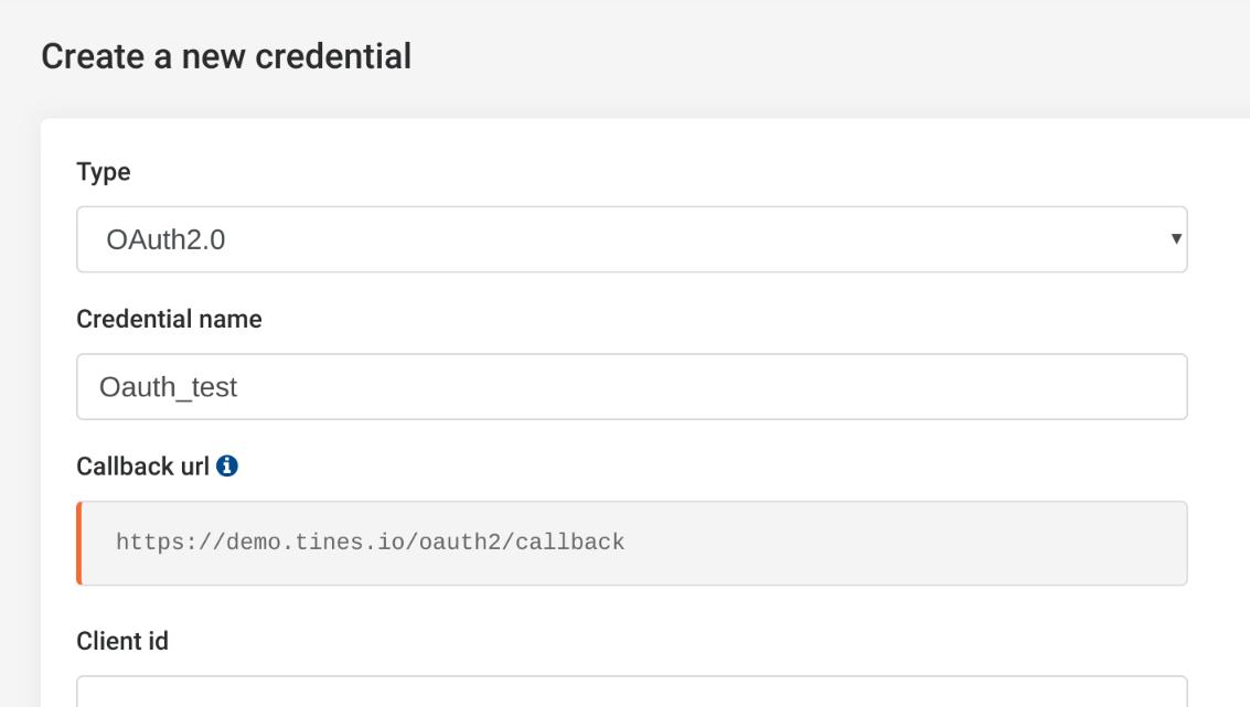 Sample callback URL