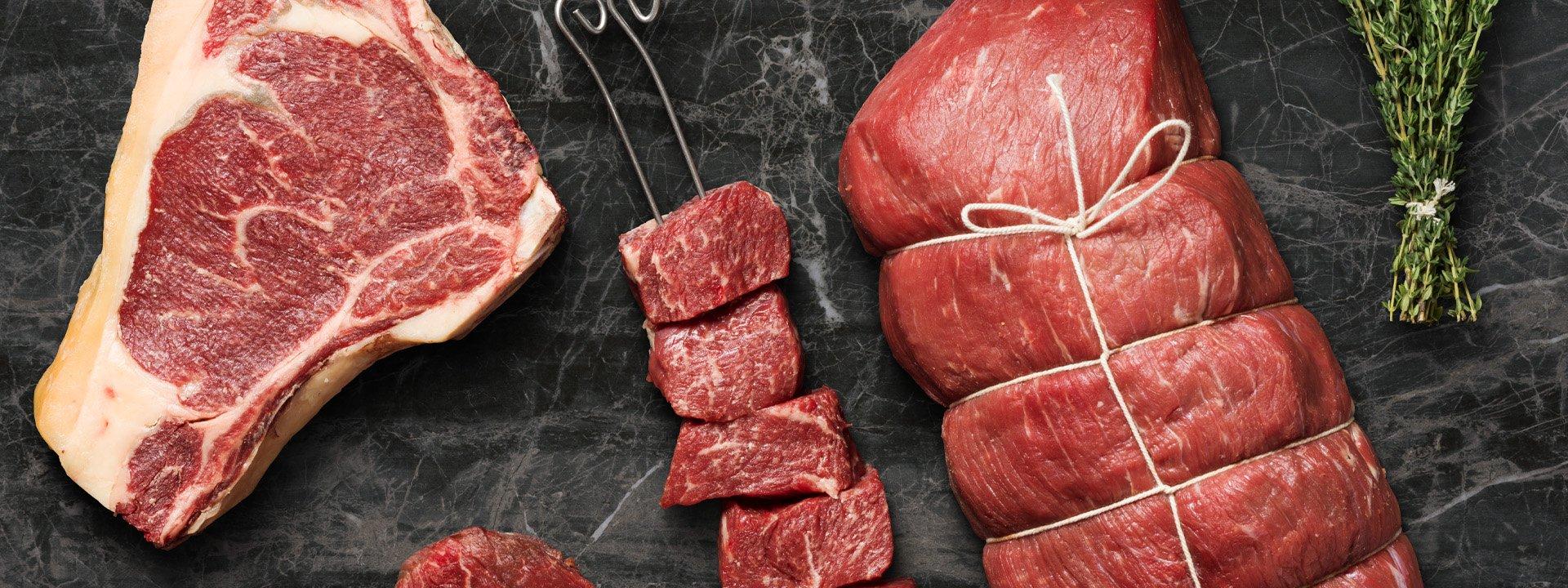 Olika sorters kött