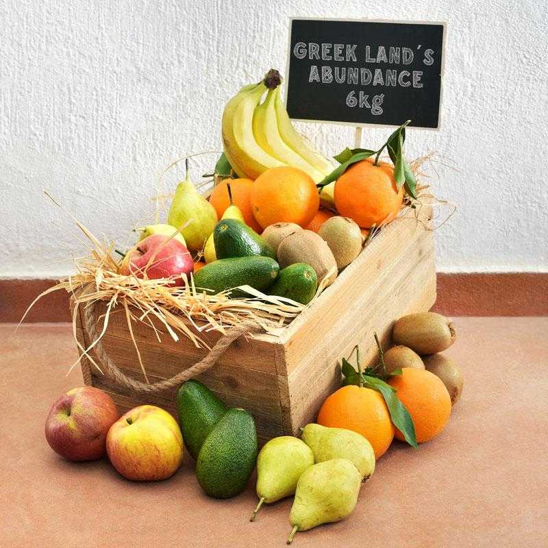 Obstkiste mit 6 Arten frischer griechischer Früchte: 7kg