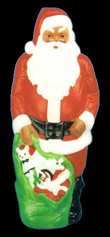 Giant Merry Christmas Santa (Black) photo