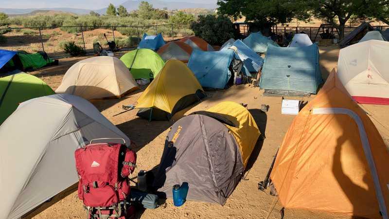 Tents at Hiker Heaven
