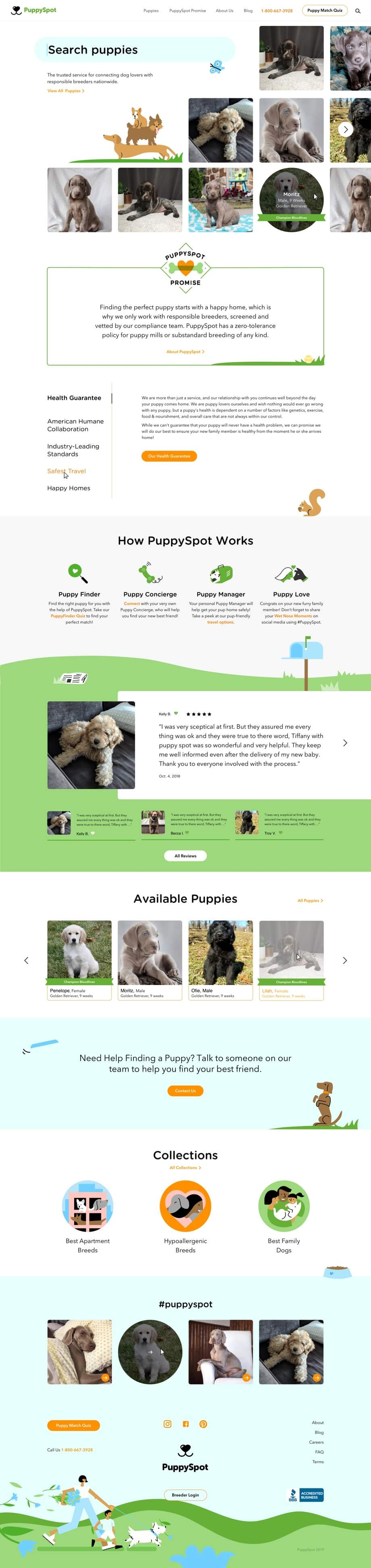 Puppy Spot pages
