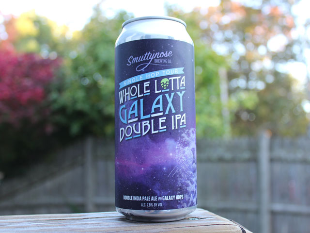 Whole Lotta Galaxy, an IPA brewed by Smuttynose Brewing Company