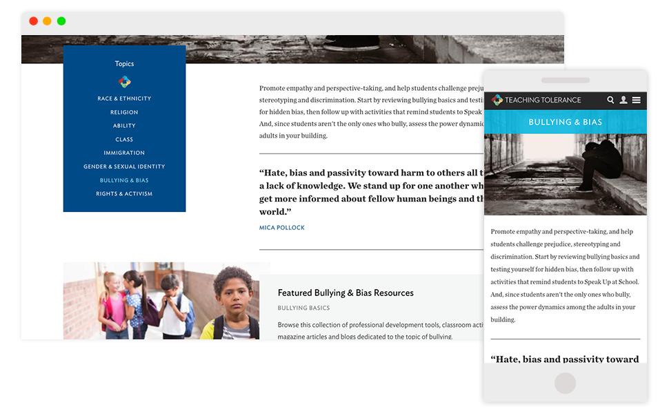 Image: Tolerance.org Desktop and Mobile