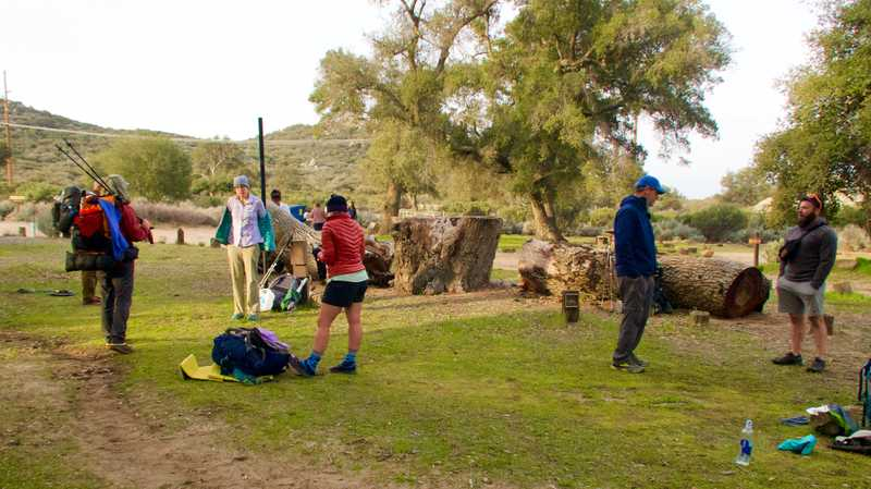 Packing at Boulder Oaks Campground