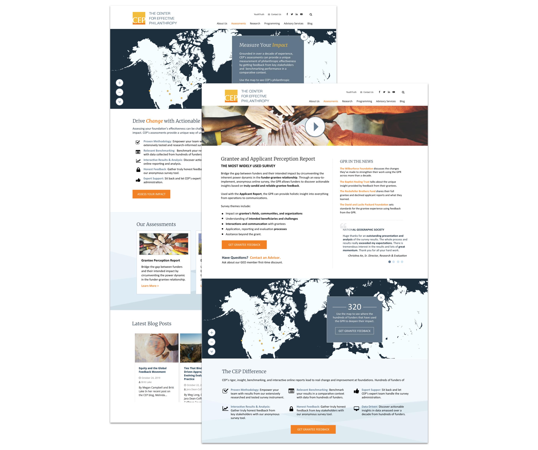 CEP website screens