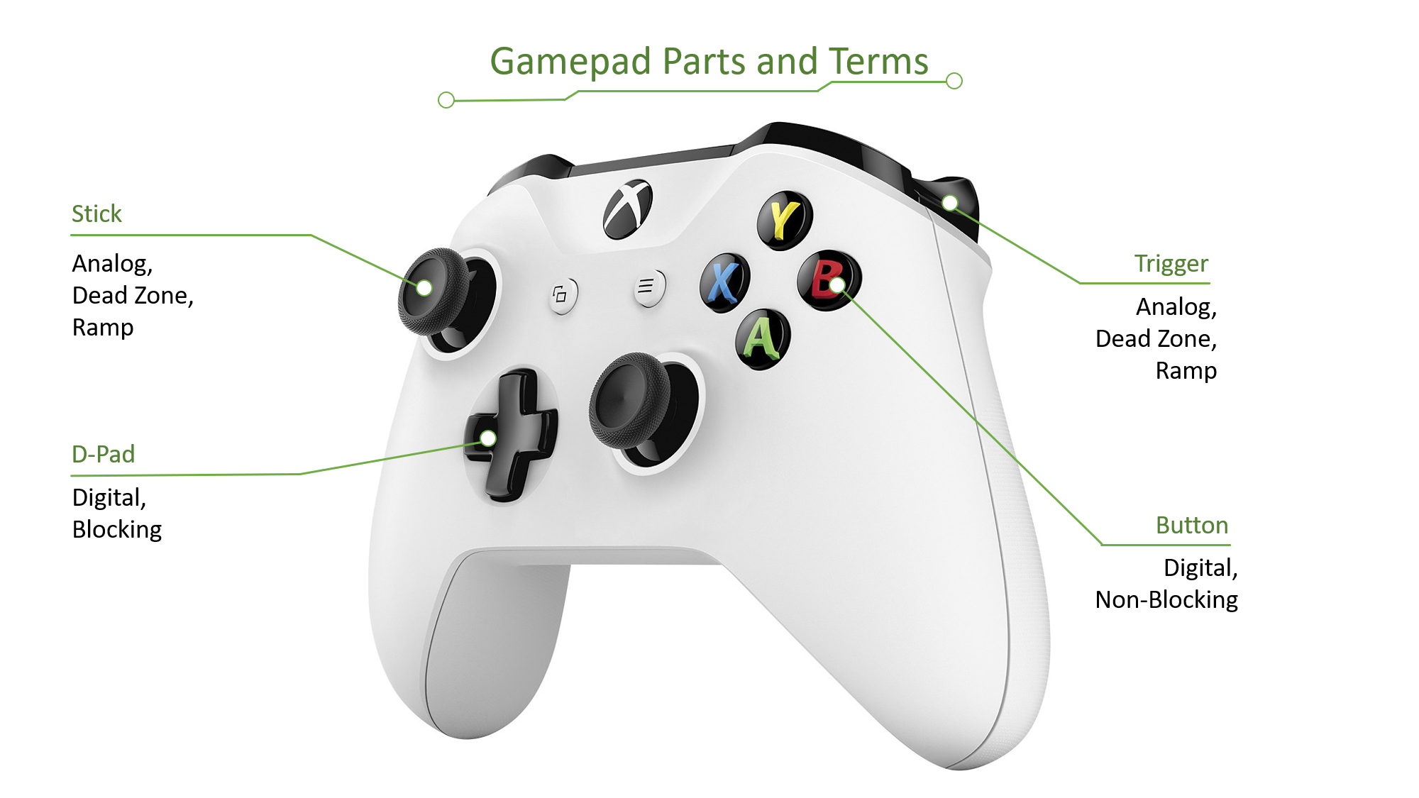 Gamepad Parts and Terms