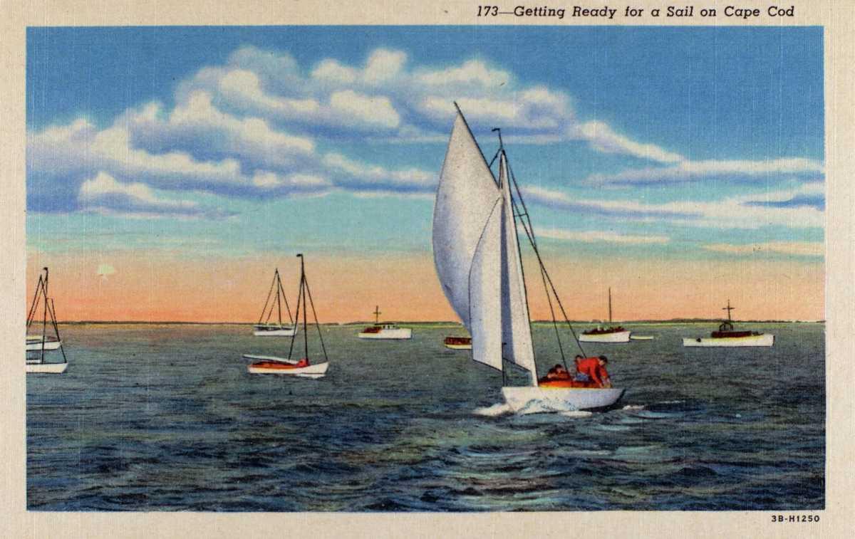 Sailing Cape Cod Postcard