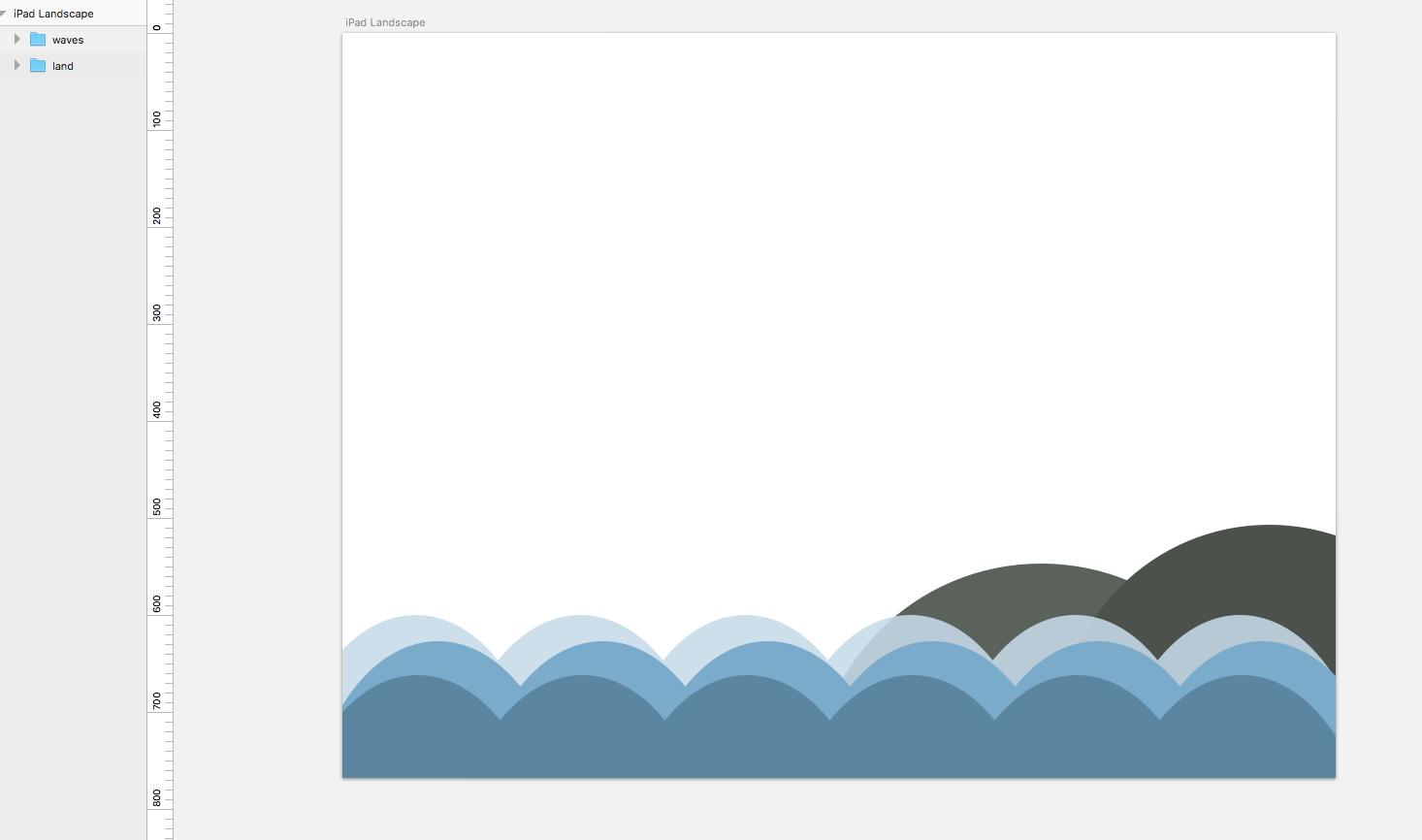 Draw a seaside scene in Sketch