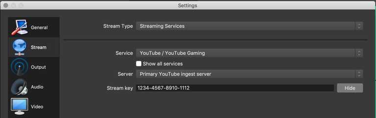 livestream encoder settings