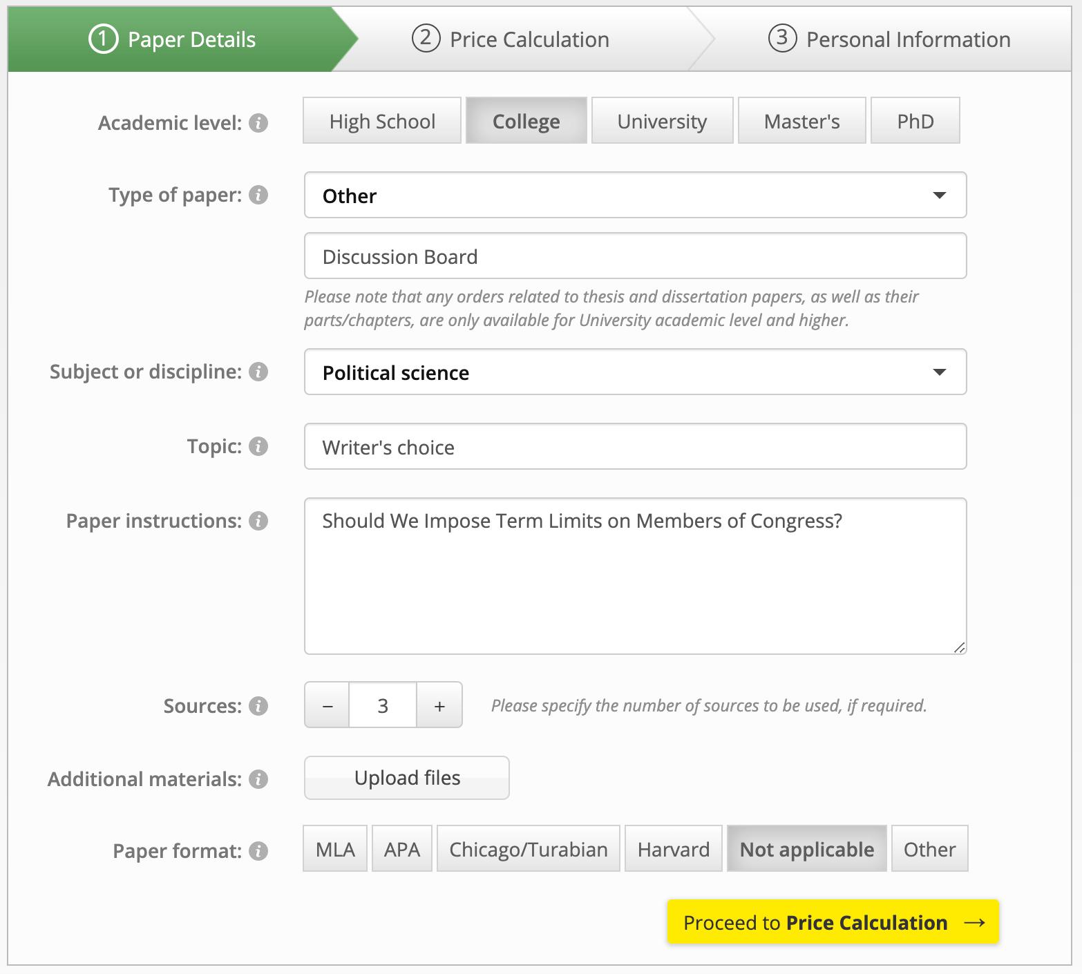 sample discussion board post order on edudemius.com