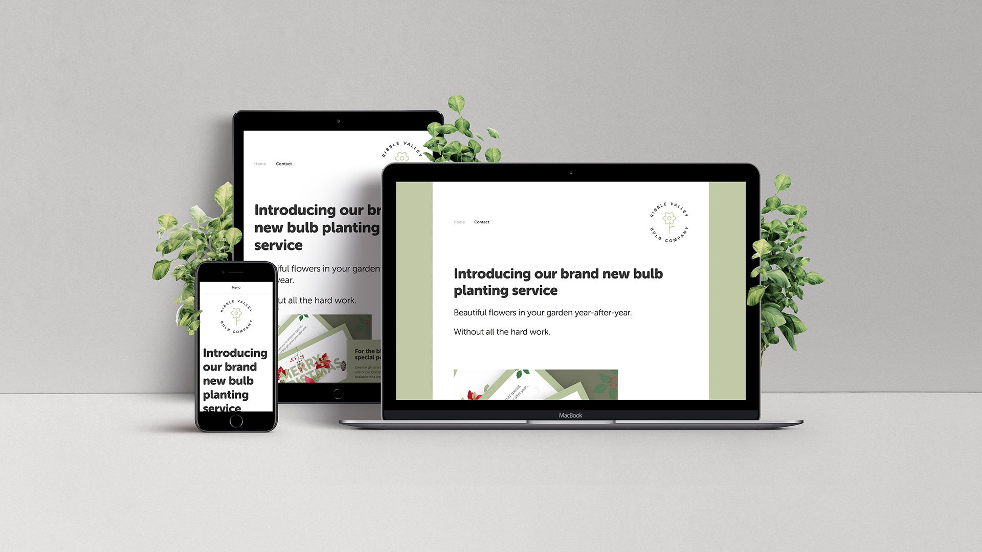 Responsive website design for Ribble Valley Bulb Company