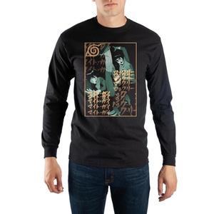 Naruto Rock Lee and Guy Sensei Black Long Sleeve Shirt