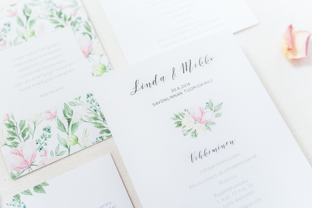 Minimalist wedding invitation. Illustrations color can be changed. Pre-designed collection. Available for order. item