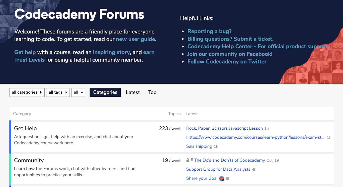 Discourse forum