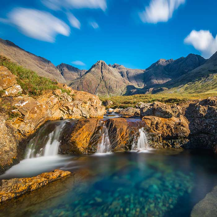 The Fairy Pools of Glenbrittle, Isle of Skye, Scotland