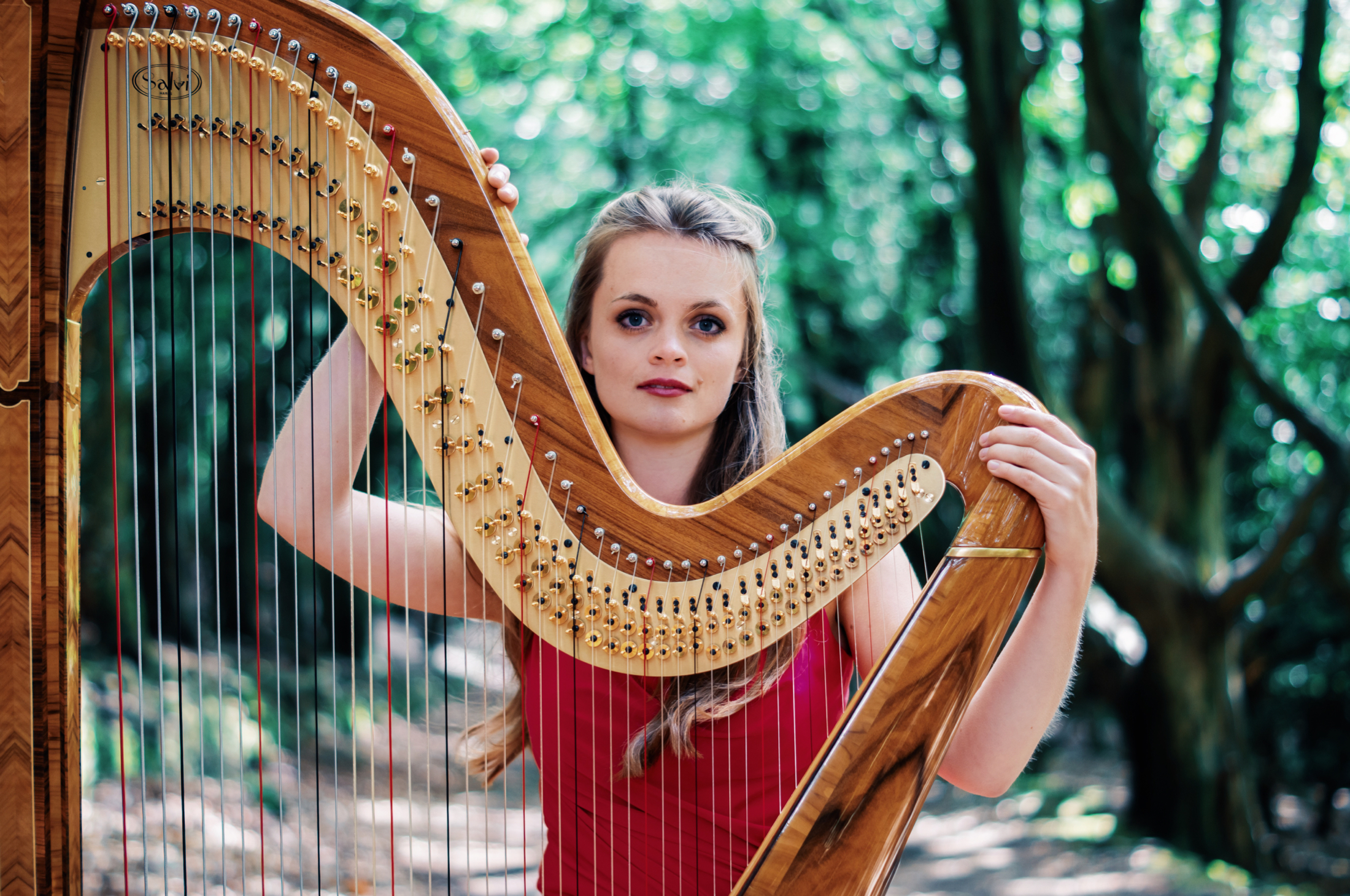 Dreamy, natural photography by Jack Watkins for award-winning classical musician and harpist, Lucy Nolan