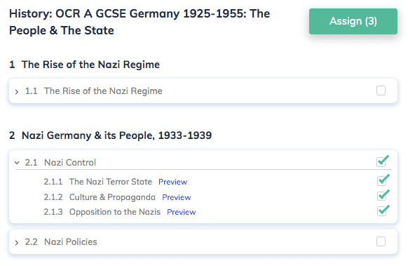 History: OCR A GCSE Germany 1925-1955: The People & The State