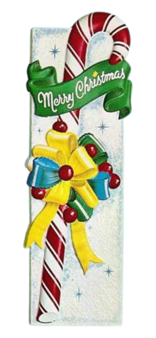 Candy Cane With Bow photo