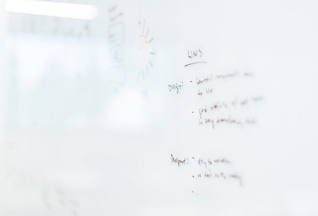 White board list