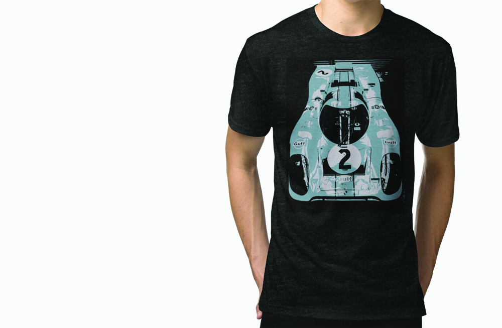 Porsche 917K Tri Blend T-Shirt by thespeedart