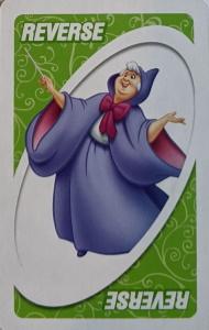 Cinderella Green Uno Reverse Card