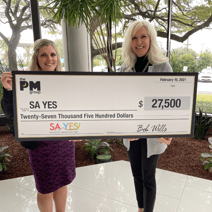 SA YES Receives Donation from The PM Group | San Antonio Advertising Agency