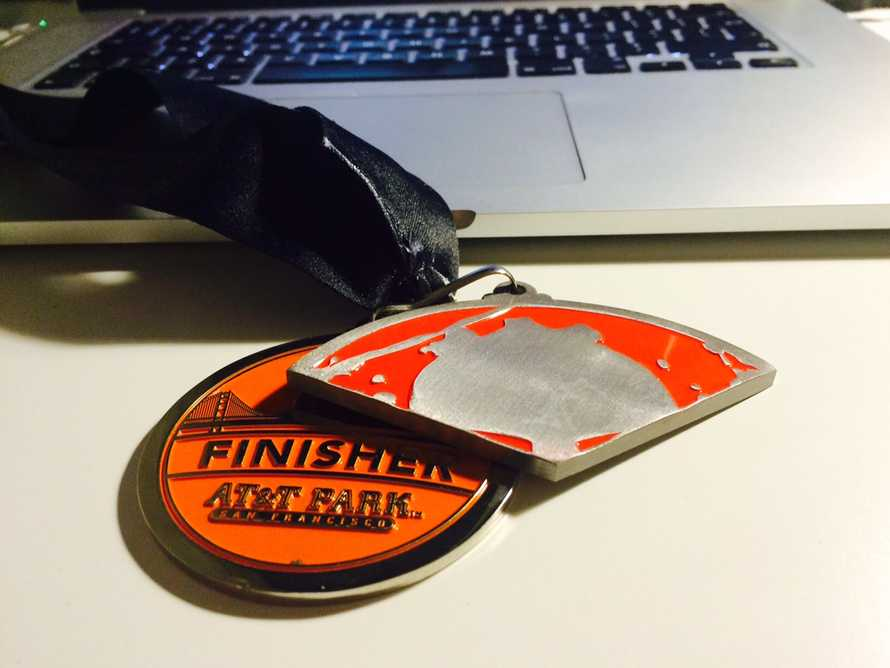 The AT&T Spartan Sprint medal
