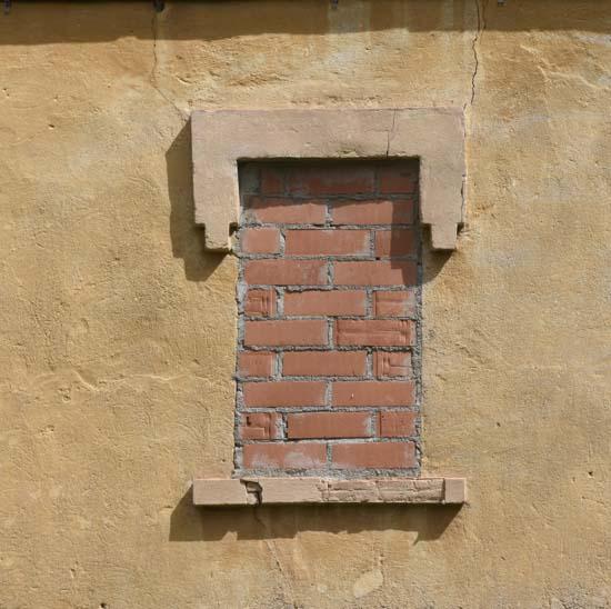 Bricked over window