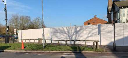 Timber Hoarding for Doctor Surgery Redevelopment – Cambridge