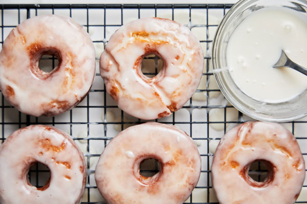 Homemade Sour Cream Glazed Doughnuts (the best & easiest)