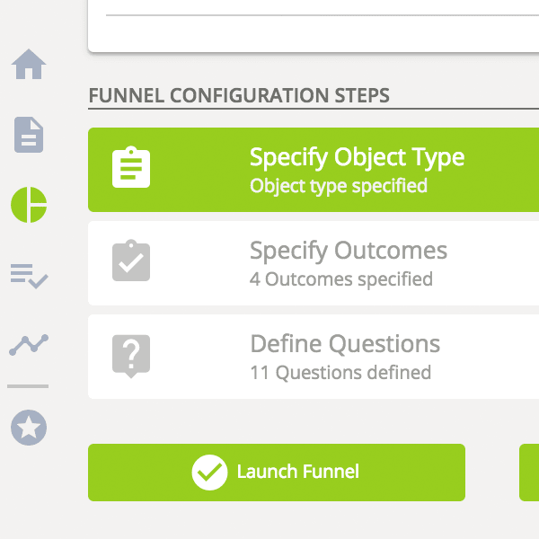 Funnel Workflow - different configuration steps