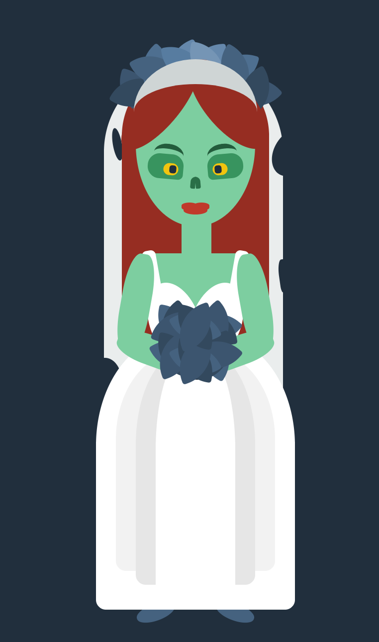 css image of a zombie bride