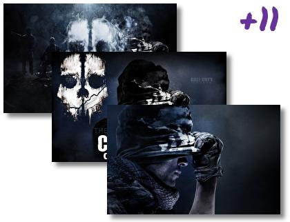 Cod Ghost theme pack