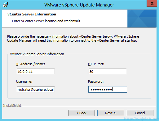 VMware vSphere Update Manager - Installation 4