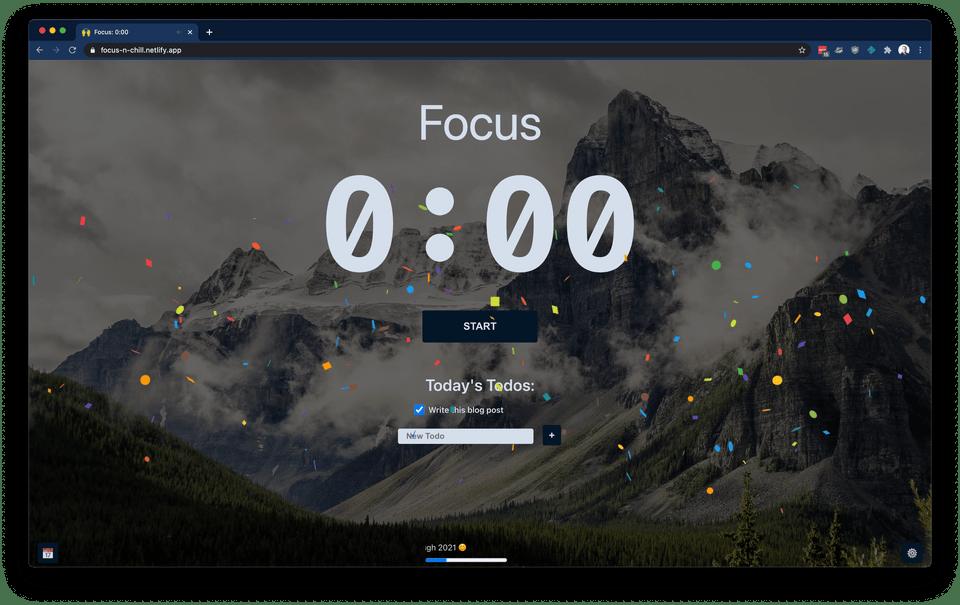 My personal productivity app