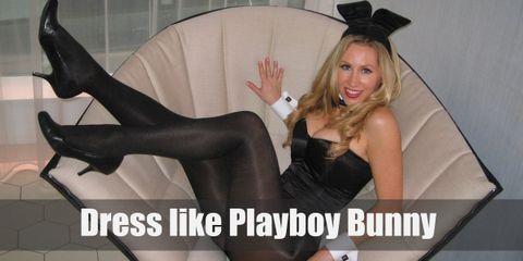 The Playboy bunny suit embodies simple elegance by coming in a plain black bodysuit, black sheer stockings, black heels, and bunny ears.