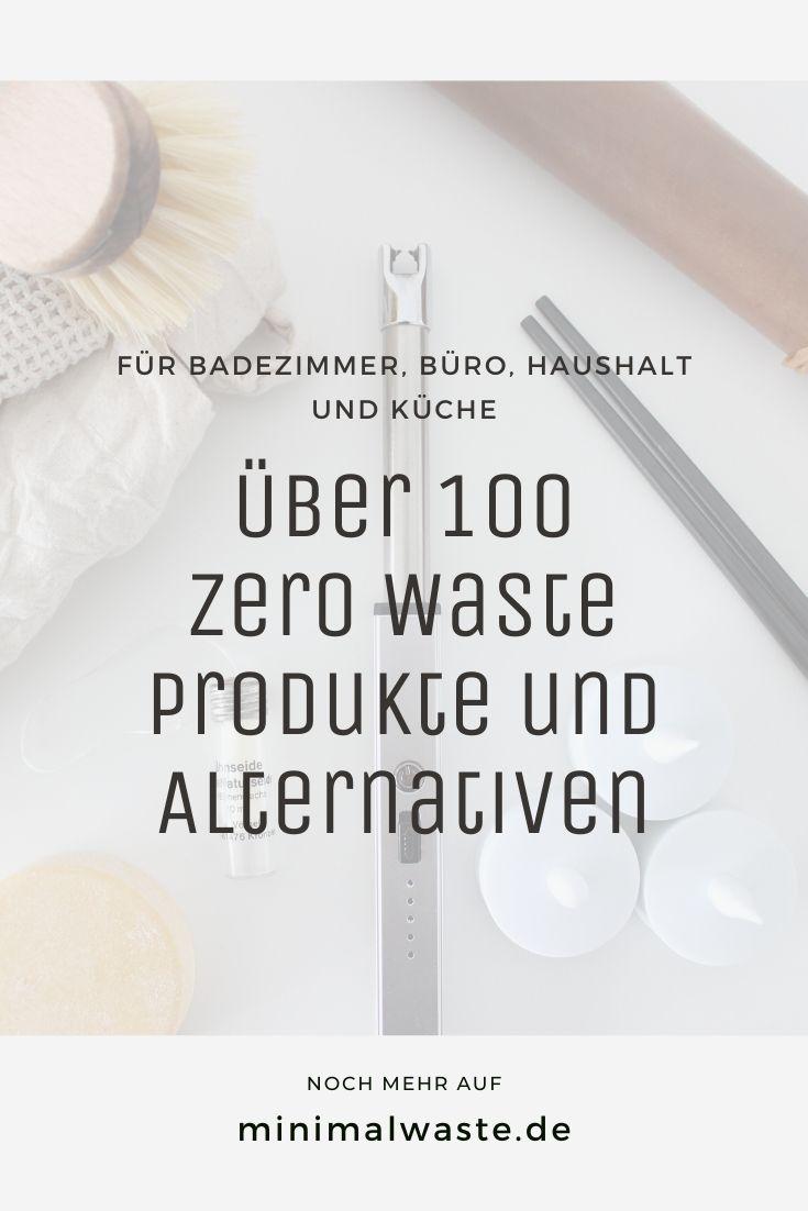 Pinterest Cover zu 'Über 100 Zero Waste Produkte und Alternativen'