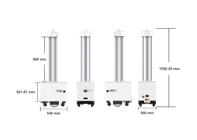 UV-C robot technical specifications