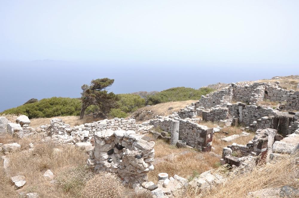 Santorini Ancient Thera and Black Beach